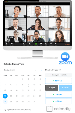 Calendly and Zoom are handy software toools for scheduling and running consultations online