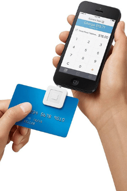 Natalie K. Douglas recommends the Square mobile car reader for taking in-person payments