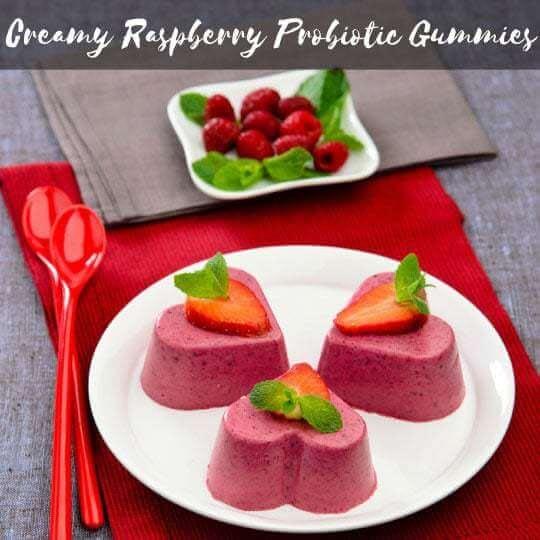 Creamy Raspberry Probiotic Gummies